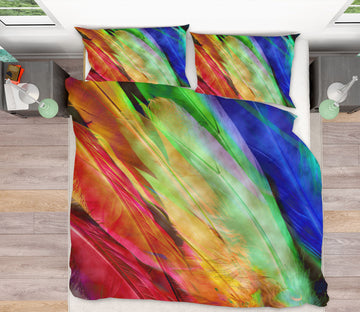 3D Colored Feathers 70170 Shandra Smith Bedding Bed Pillowcases Quilt