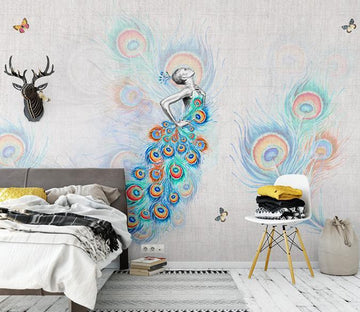 3D Peacock 148 Wall Murals