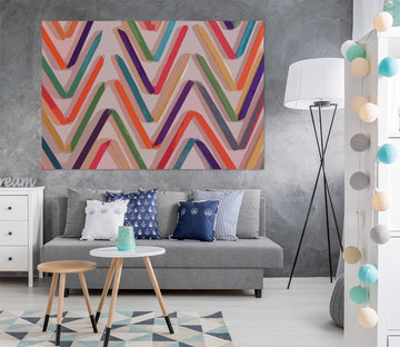 3D Colored Wavy Lines 71123 Shandra Smith Wall Sticker