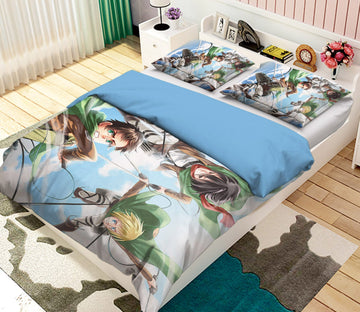 3D Attack On Titan 1781 Anime Bed Pillowcases Quilt Quiet Covers AJ Creativity Home