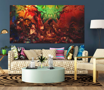 3D Life In Technicolor 015 Marco Cavazzana Wall Sticker