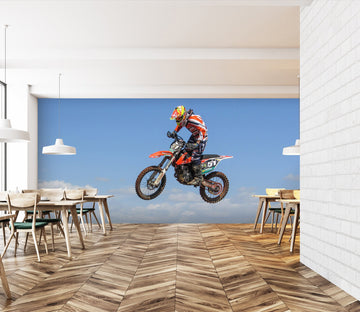 3D Motocross 999 Vehicle Wall Murals