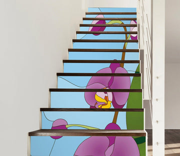 3D Flowers 532 Stair Risers Wallpaper AJ Wallpaper