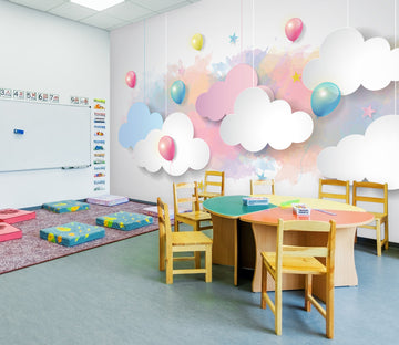3D Colorful Cloud Balloon 283 Wall Murals