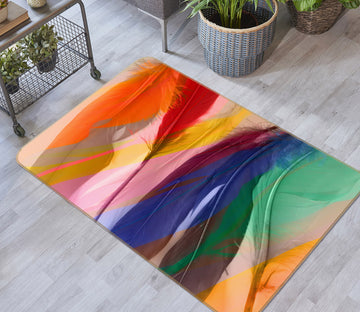 3D Colored Feathers 71017 Shandra Smith Rug Non Slip Rug Mat