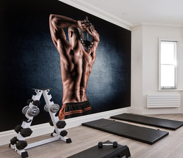3D Lifting Dumbbell 041 Wall Murals