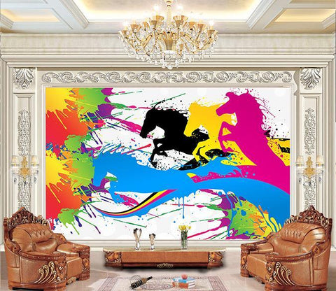 3D Abstract Horse 396 Wall Murals Wallpaper AJ Wallpaper 2
