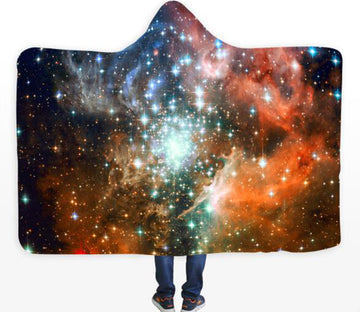 3D Shining Stars 116 Hooded Blanket