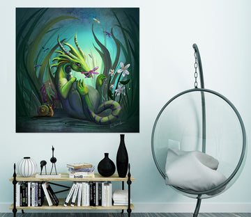 3D Dinosaur Forest 101 Rose Catherine Khan Wall Sticker