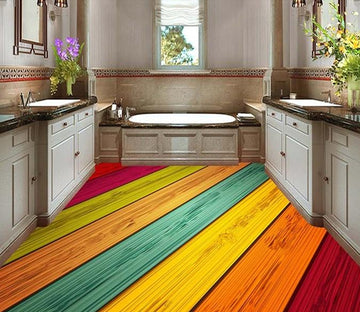 3D Color Stripe WG018 Floor Mural
