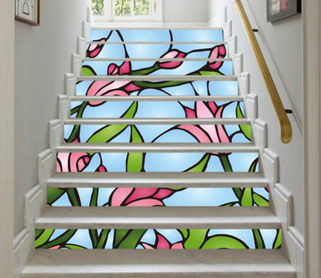 3D Flowers 961 Stair Risers Wallpaper AJ Wallpaper