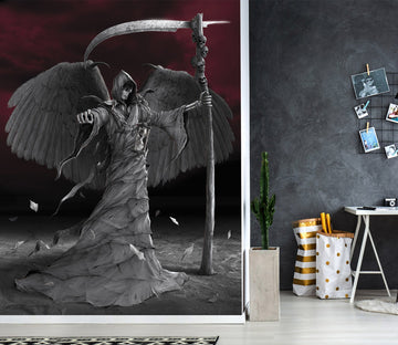 3D Black Angel 1561 Wall Murals Exclusive Designer Vincent Wallpaper AJ Wallpaper