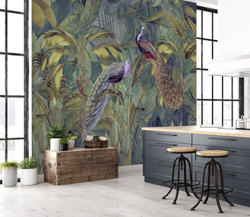 3D Beautiful Peacock 1014 Andrea haase Wall Mural Wall Murals