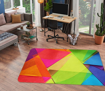 3D Colored Triangle 71025 Shandra Smith Rug Non Slip Rug Mat