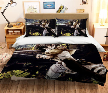 3D Attack On Titan 1652 Anime Bed Pillowcases Quilt Quiet Covers AJ Creativity Home