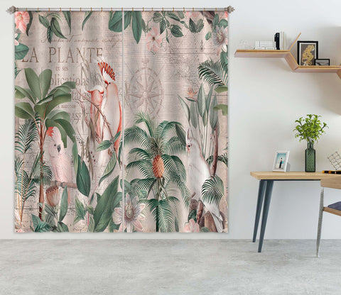 3D Bird Forest 081 Andrea haase Curtain Curtains Drapes