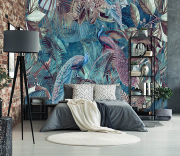 3D Quiet Leaves 1010 Andrea haase Wall Mural Wall Murals