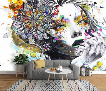 3D Abstract Beauty 183 Wall Murals Wallpaper AJ Wallpaper 2