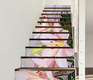 3D Flowers 799 Stair Risers Wallpaper AJ Wallpaper