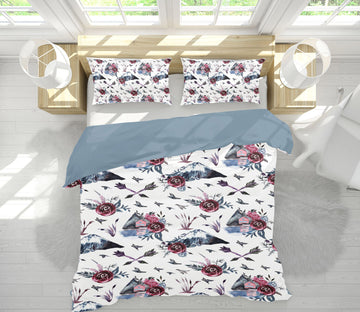 3D Arrow Rose 070 Uta Naumann Bedding Bed Pillowcases Quilt