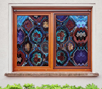 3D Abstract Art Pattern 333 Window Film Print Sticker Cling Stained Glass UV Block