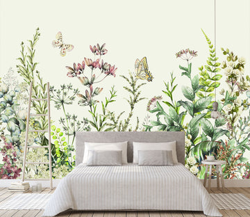 3D Hand Drawn Flower 142 Wall Murals