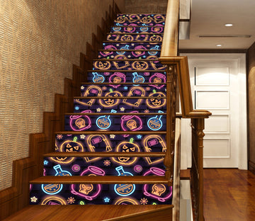 3D Fluorescent Halloween Graphics 660 Stair Risers