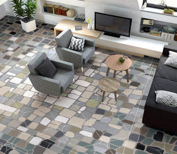 3D Color Pattern WG310 Floor Mural