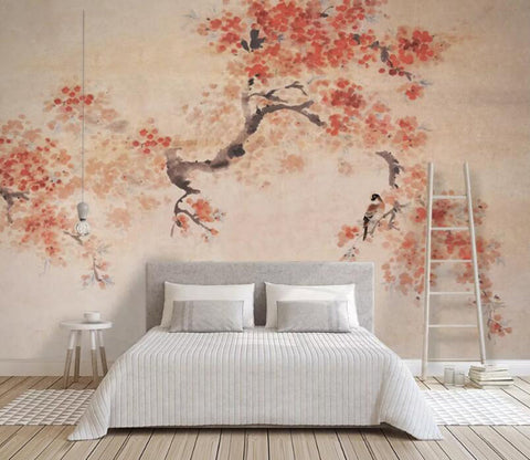 3D Pink Tree WC95 Wall Murals