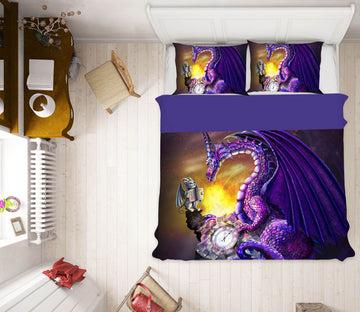 3D Sun Dragon 125 Rose Catherine Khan Bedding Bed Pillowcases Quilt