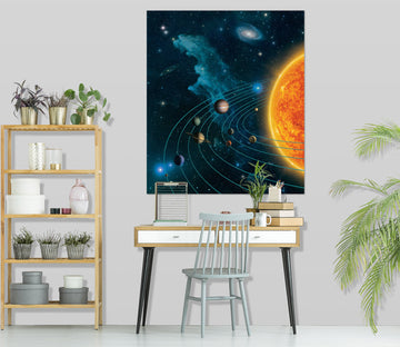 3D Solar System 074 Vincent Hie Wall Sticker