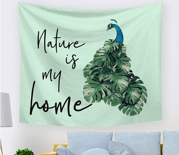 3D Green Peacock 2414 Tapestry Hanging Cloth Hang