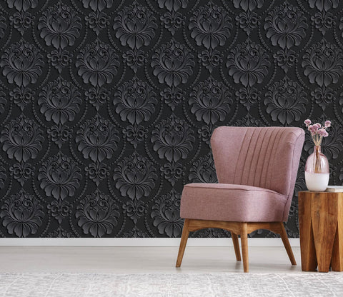 3D Black Bottom Flower Pattern 9 Wallpaper AJ Wallpaper