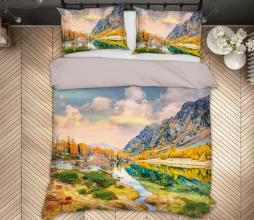 3D Arpy Lake Reflections 008 Marco Carmassi Bedding Bed Pillowcases Quilt