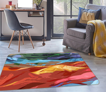 3D Colored Mountains 71010 Shandra Smith Rug Non Slip Rug Mat