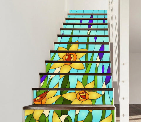 3D Art 3408 Stair Risers Wallpaper AJ Wallpaper