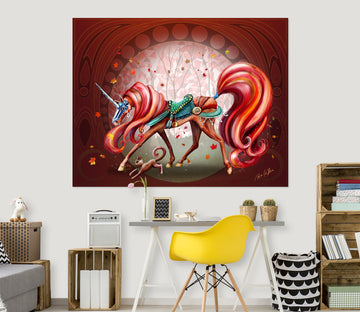 3D Cute Unicorn 201 Rose Catherine Khan Wall Sticker