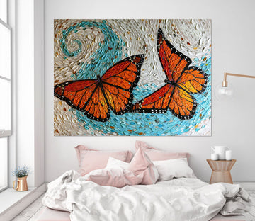 3D Painted Butterfly 031 Dena Tollefson Wall Sticker