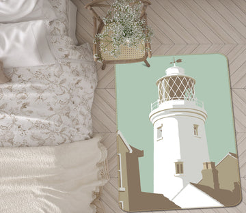 3D Southwold Lighthouse 1150 Steve Read Rug Non Slip Rug Mat