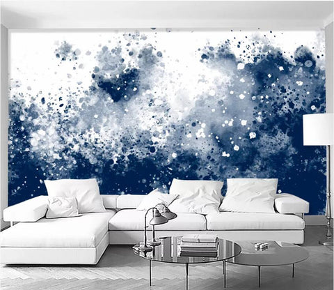 3D Black Spot WC19 Wall Murals