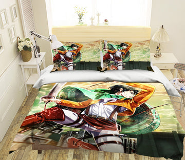 3D Attack On Titan 1647 Anime Bed Pillowcases Quilt Quiet Covers AJ Creativity Home