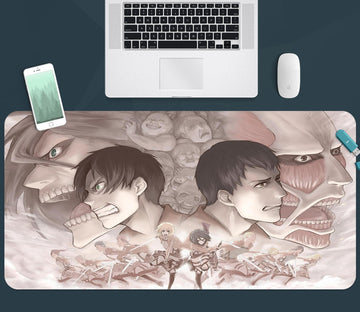 3D Attack On Titan 357 Anime Desk Mat Mat AJ Creativity Home