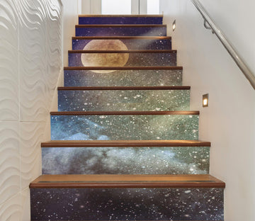 3D Night Sky 9435 Stair Risers