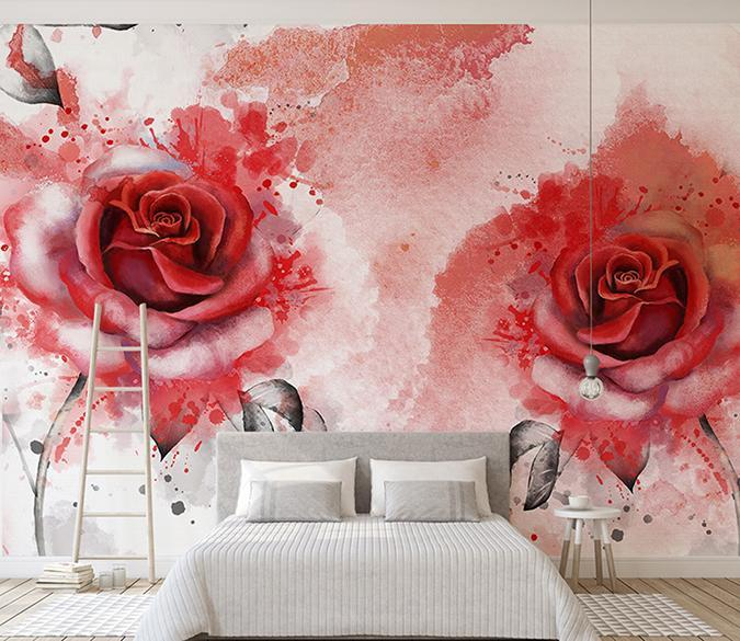 3D Rose 349 Wall Murals Wallpaper AJ Wallpaper 2