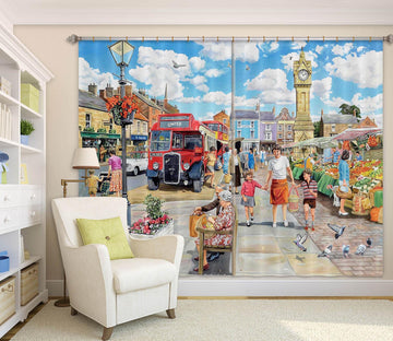 3D A Trip To The Shops 042 Trevor Mitchell Curtain Curtains Drapes Wallpaper AJ Wallpaper