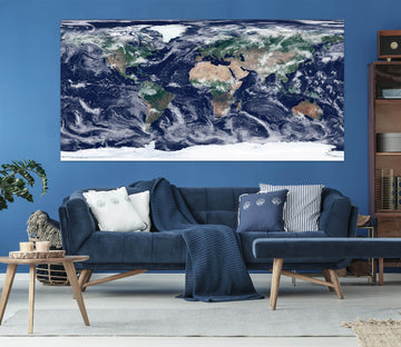 3D Abstract Art 254 World Map Wall Sticker