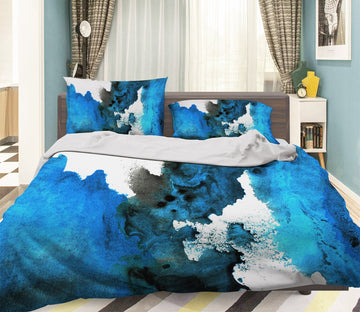 3D Apply Dark Blue 036 Bed Pillowcases Quilt Wallpaper AJ Wallpaper