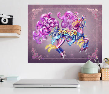 3D Purple Unicorn 202 Rose Catherine Khan Wall Sticker