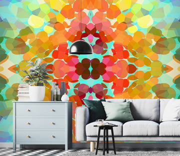 3D Swim Colors Flower 71087 Shandra Smith Wall Mural Wall Murals