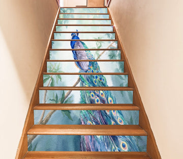3D Peacock 6972 Stair Risers Wallpaper AJ Wallpaper